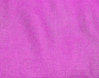 vintage fushia cotton fabric yardage seing crafting projects costume making