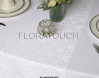 White Lace Table Runner Wedding Table Runner