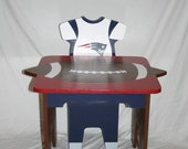 NEW - iChart Painted Kids Table with 1 Jersey Chairs (Childrens Table) - Football Themed - Personalized