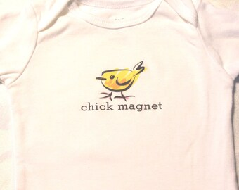 SALE Chick Magnet Baby Bodysuit (sizes newborn to 24 months)