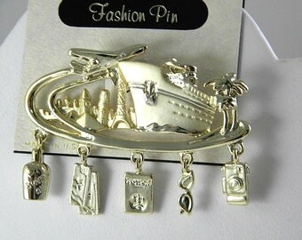 Danecraft Cruise Vacation Fun Pin Vintage Jewelry