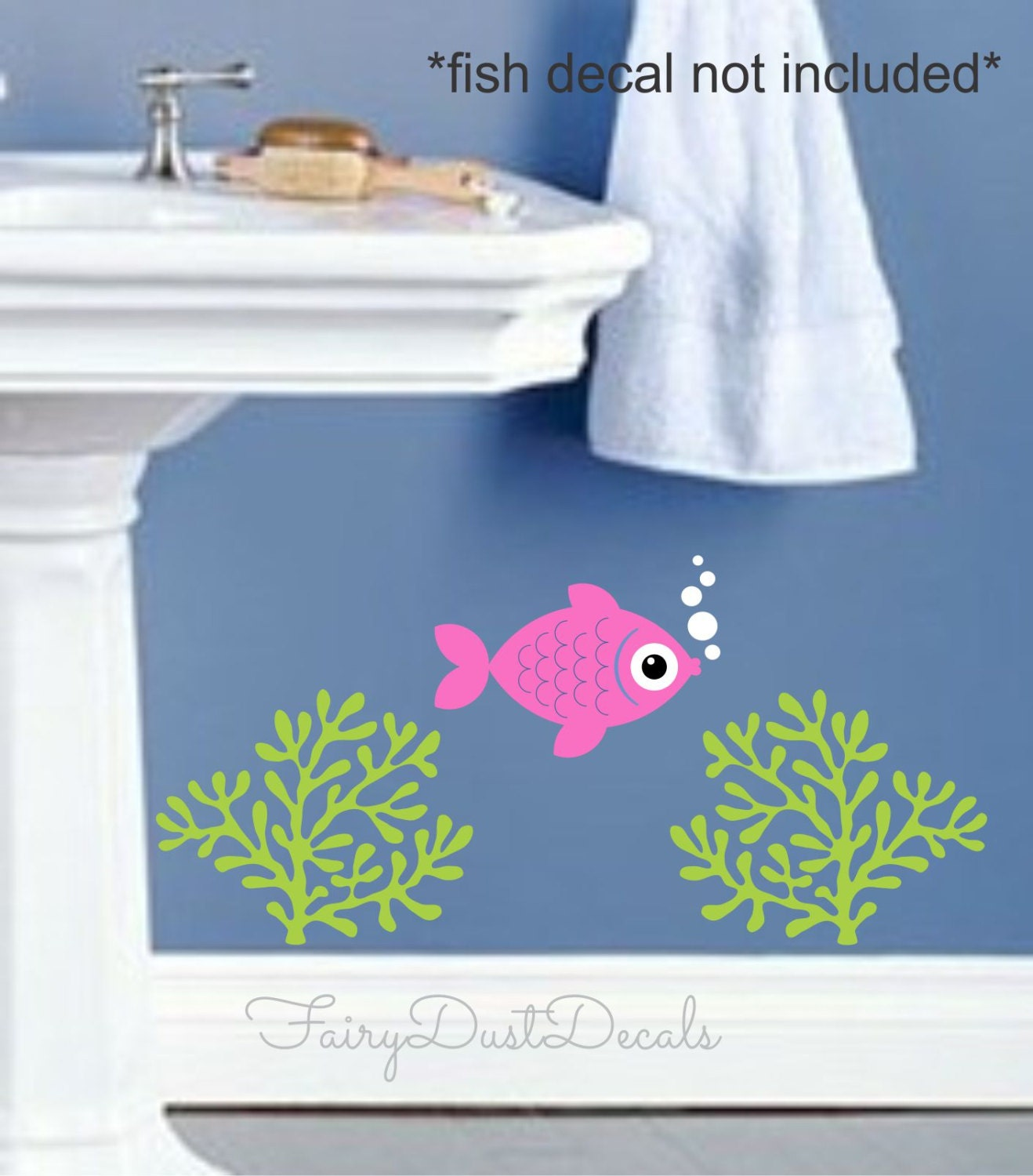 Coral wall decals ocean beach fish wall decals by