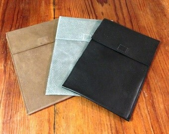 Mini Tablet or Reader Case in Leather with Flap, in Choice of Colors
