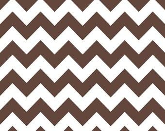 SUMMER SALE - Medium Chevron Stripe in Brown - C320-90 - 1 Yard - Riley Blake Designs