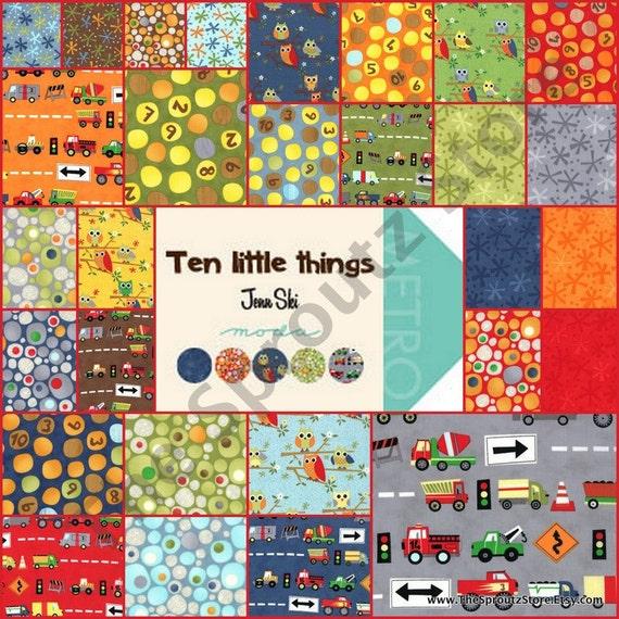 Ten Little Things  by Jenn Ski for Moda Fabrics - Jelly Roll - SALE