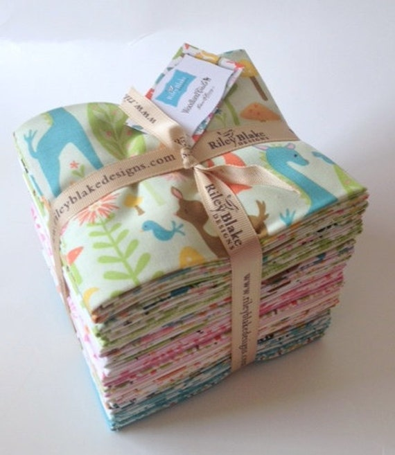 Woodland Tails by Sheri McCulley Studos  for Riley Blake Designs - Fat Quarter Bundle (27) - Entire Collection