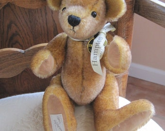 Vintage Dean's Rag Bear Hampton Collector's Club 100% Mohair Handmade Collectors Item All Tags Attached