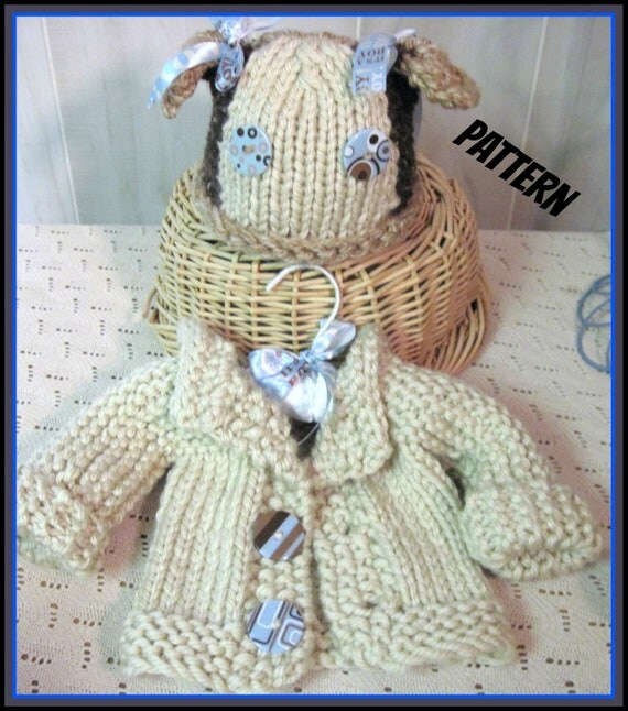 Puppy Dog Hat  and Coat Infant  Knitted Pattern