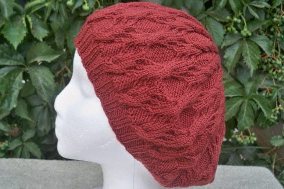 Women's Cable Knit Beanie In Adobe Merino Wool