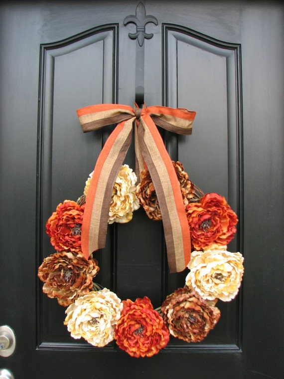 Items similar to fall wreaths autumn wreaths fall decor for 3 wreath door decoration