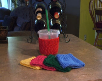 Hand Knitted - Cup Cozy