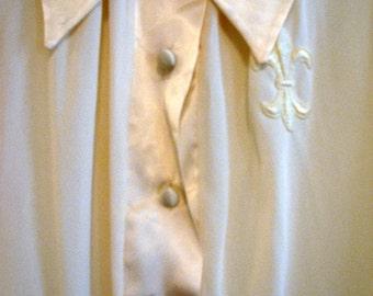 A Cream Fleur de Lis Nightgown by Gossard/Artemis