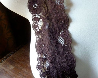 Brown Stretch Lace for Waistbands,  Lingerie  STR 1024brown