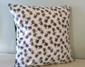 Cushion/Pillow Cover - Cottage Chic, Vintage Bicycle Throw / Scatter / Accent Cushion for Sofa or Bedroom