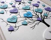 8x10 Family Tree of Hearts. Parents, Grandparents. Anniversary, Ancestry. YOUR CHOICE Light, Medium Color Paper. Personalized. Made to Order