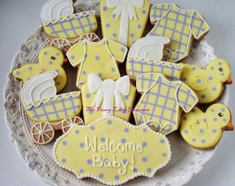 Welcome Baby Shower Assortment 13 cookies