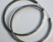 Vintage 1920's Silver Hoop Earrings
