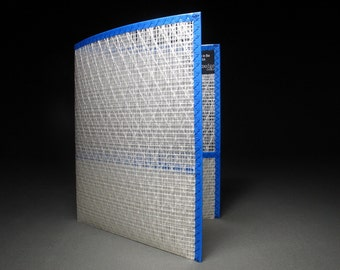 The Best School Folder Ever - Made with Sailcloth - White and Blue