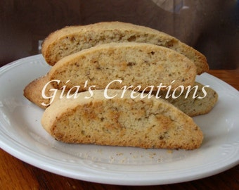 BISCOTTI - Italian Biscotti Cookies - Almond Anise - One Pound Box - Wedding Favors