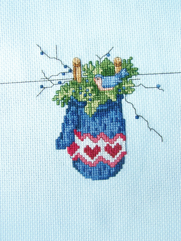 Winter Cross Stitch Sampler Seasons Of Happiness Series