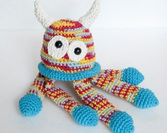 PDF Crochet Pattern - Amigurumi Bed Monster