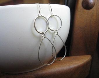 modern silver earrings. geometric earrings. silver dangle earrings. splurge.