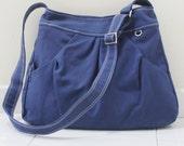New Year SALE - 40% OFF Hoodie in Royal Blue / Market Bag / Sling bag / Tote / Purse / Handbag / Hip bag / Large Bag / Women / For her