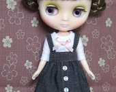 Jean Suspender Skirt and T-shirt for Middie Blythe / Blythe
