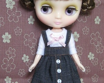 Jean Suspender Skirt and T-shirt for Middie Blythe