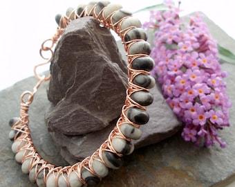 Kiss Kross Bracelet - Zebra Jasper and copper