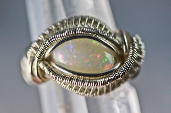 Original Philip Crow Sterling Silver Talisman Ring - Opal