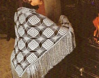 Cobweb Shawl Vintage Crochet Pattern 351