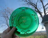 Emerald Green 35th Anniversary Commemorative Plate Gold Trimmed