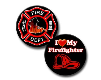 Fire Department theme - 1 inch Circles - Instant Etsy Download