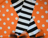 Halloween White and black Striped Leggings