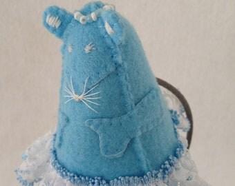 Bluebell Mouse, Felt Puppet