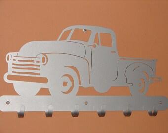 Vintage Pick Up Truck COAT RACK Robe Hook Metal Cabin Garage Hanger 4x4