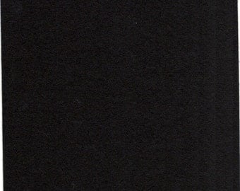 Pure Wool Felt Sheet - Black - Half Metre / Quarter