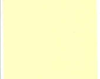 Pure Wool Felt Sheet - Soft Yellow - Various Sizes