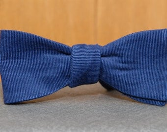 Navy Blue Corduroy  Bow Tie