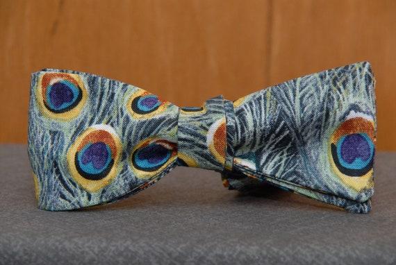 Peacock Love  Bow Tie