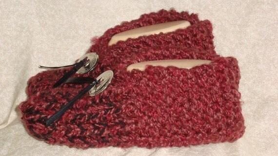 Men's Knitted Auburn Slipper Size 9, 10 or 11