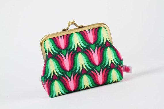 Deep dad - Tulipa pink - metal frame purse