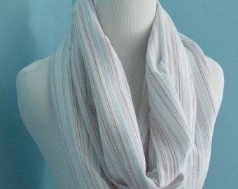 Cotton Striped Infinity Scarf