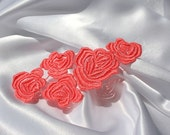 Cascading Roses LACE - Venice - Peach - Altered Couture - Wedding - Costume - Applique - Embroidery