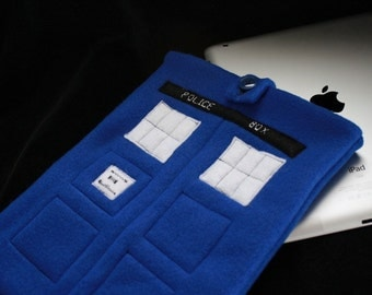 TARDIS eReader Tablet Sleeve Case for iPad, iPad mini, Kindle, Nook & More / tech-cozy for Doctor Who fans Custom made to your measurements