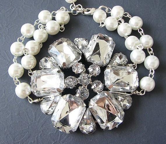 Wedding Bracelet Bridal Jewelry Pearl Bridal Bracelet Wedding Jewelry Bridesmaid Gift Set