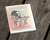 Thoth LIkes Extra Foam  - A2 Blank Card