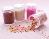 Polymer Clay Fake/Faux Sprinkles Toppings Flakes - 20grams per set (Pick your color)