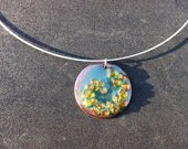 Stained Glass Spiral Necklace - RESERVE FOR MEG
